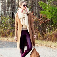 Fall colors - beige and burgundy