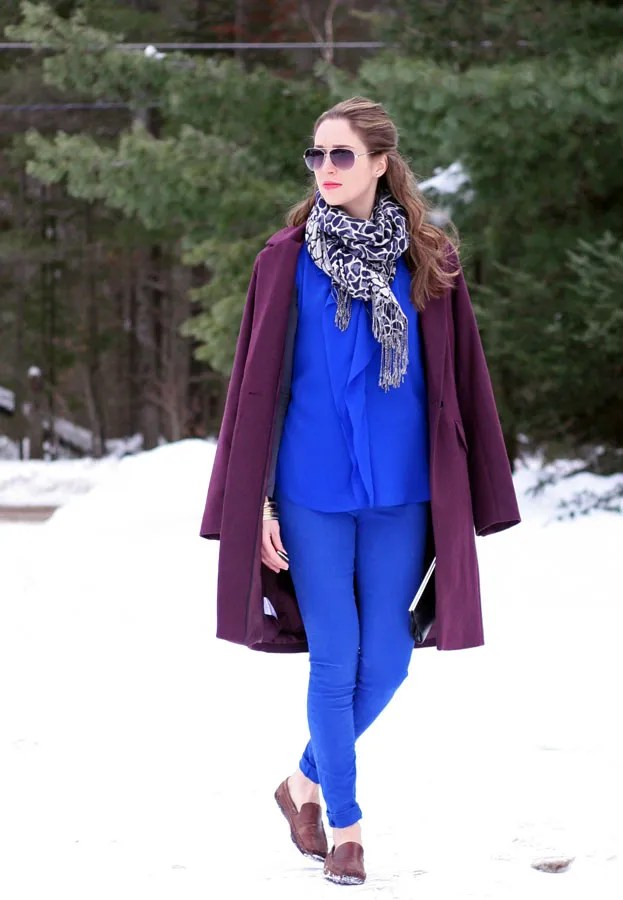 burgundy wool coat royal blue