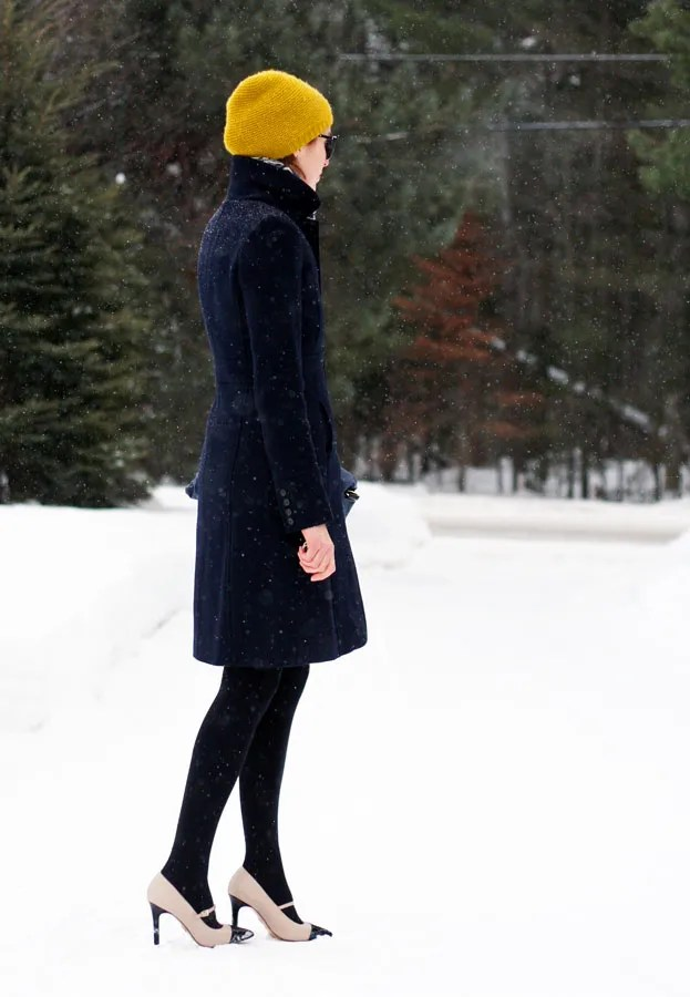 j.crew lady day coat cashmere hat