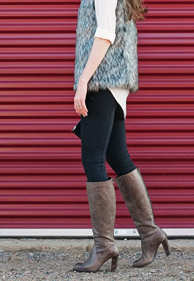 A Closet Full of Clothes blog - Ricki's faux fur vest