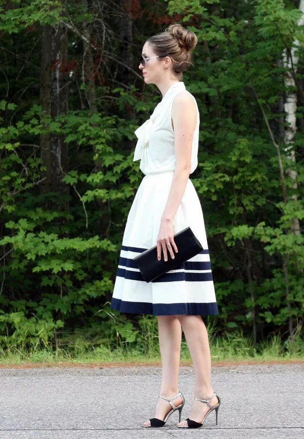 nautical outfit striped skirt