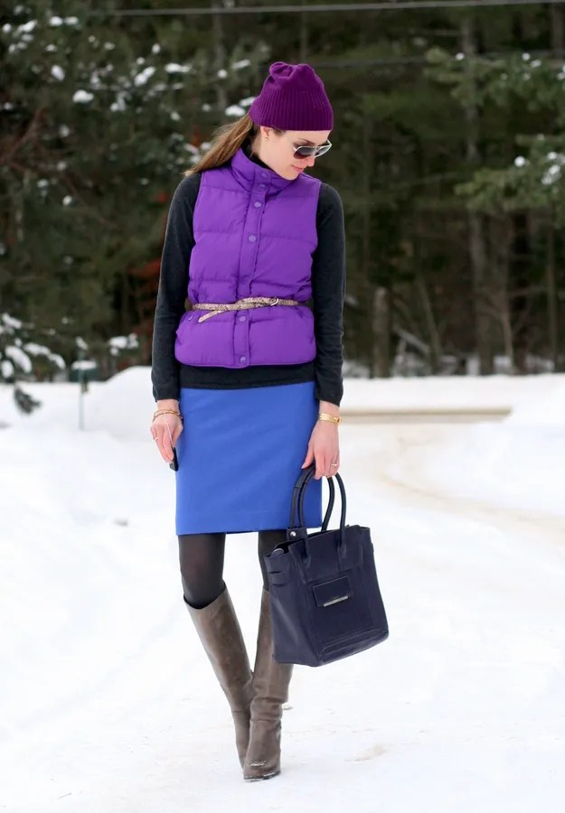 colorful canadian winter outfit