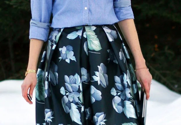 diy homemade midi skirt