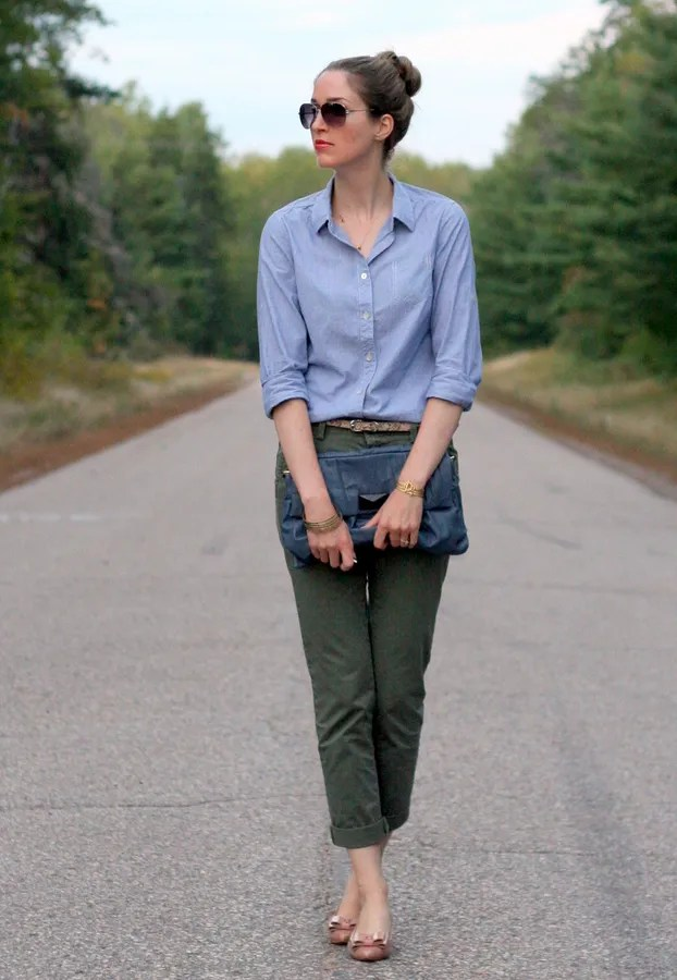 chambray and khaki