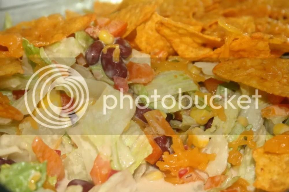 Nachos salad سلطة الناتشوز