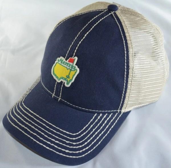 2015 Masters Navy Stone Trucker Golf Hat Augusta