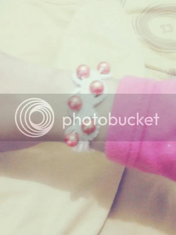 Macrame bracelet beads