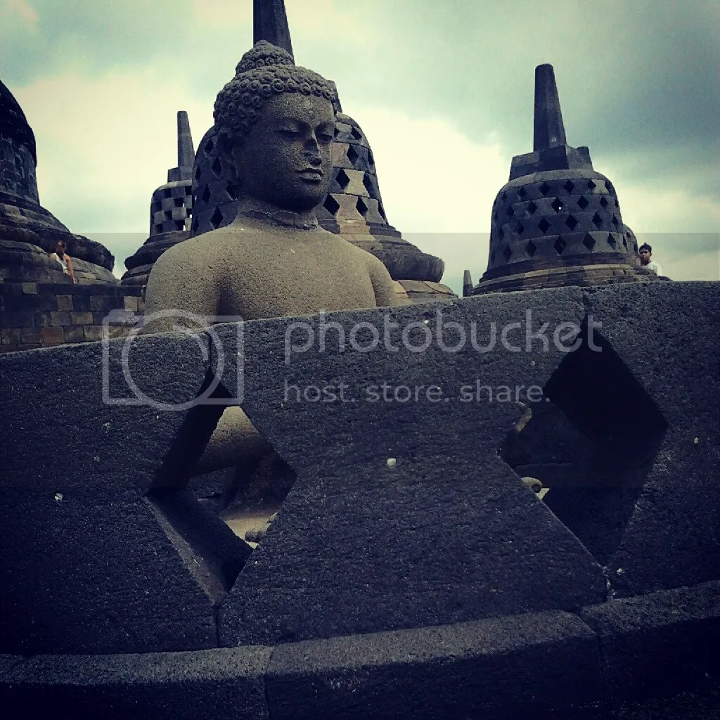 Budha Statue inside the Tupa