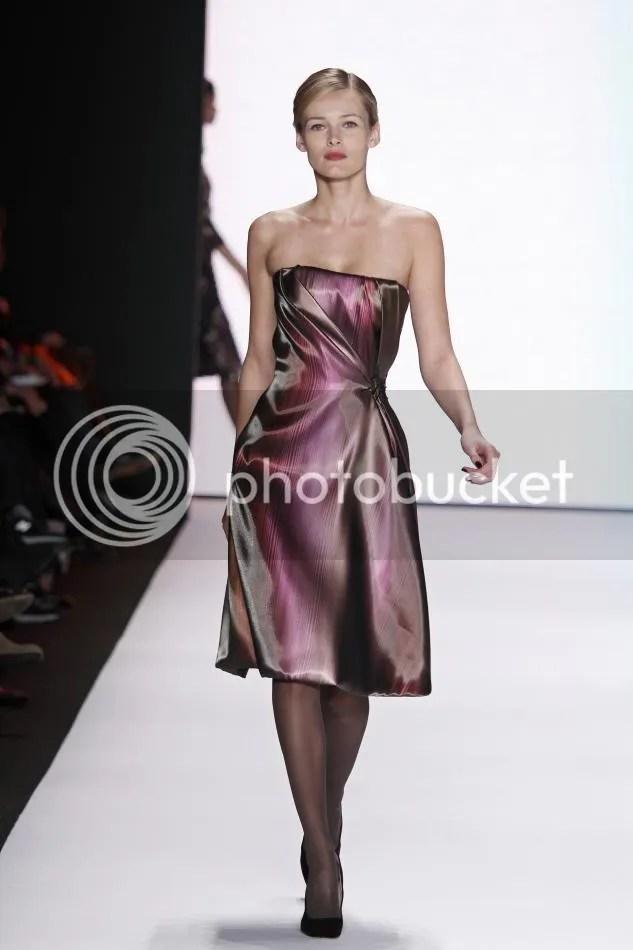 13. Amethyst liquid stripe woven bustier dress