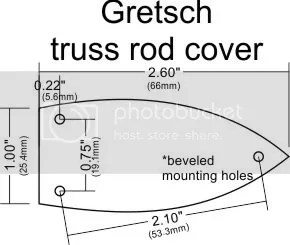Custom Engraved Truss Rod Cover for Gretsch Guitars