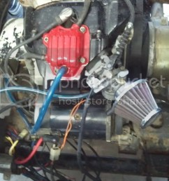 started cleaning up motor new wiring new valve cover gasket carb gaskets [ 1024 x 768 Pixel ]
