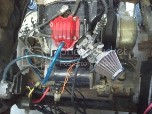 small resolution of started cleaning up motor new wiring new valve cover gasket carb gaskets