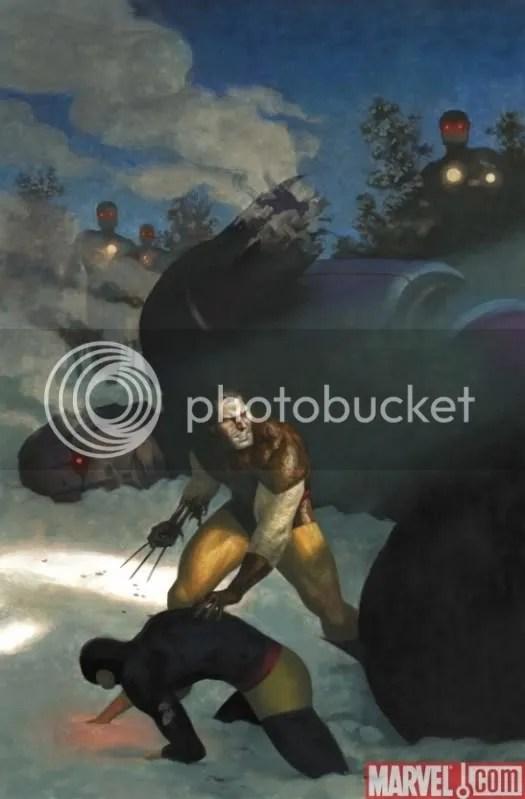 Wolverine al estilo de Wyeth.