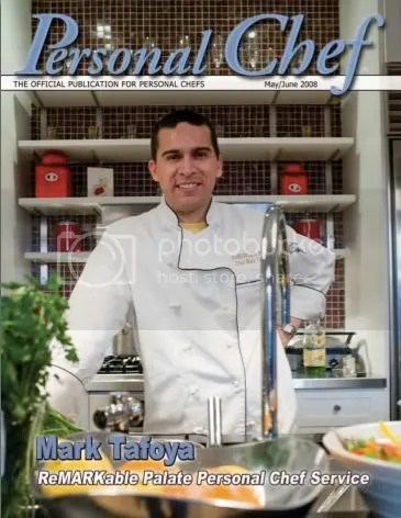 Chef Mark on the Cover of Personal Chef Magazine  The Gilded Fork