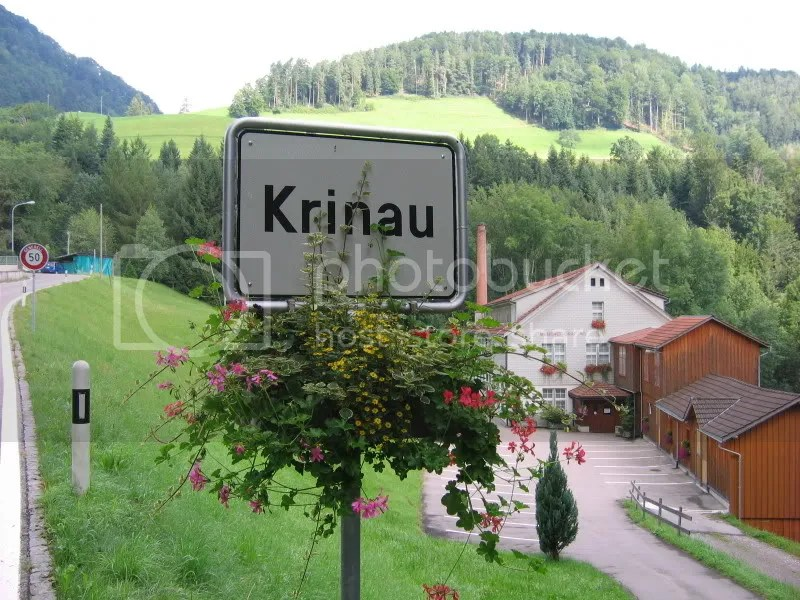 Krinau village sign