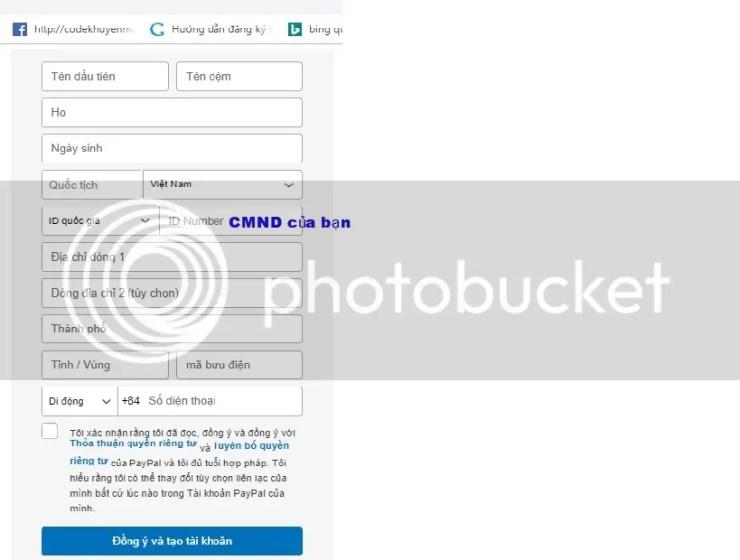 hướng dẫn chi tiết tạo tài khoản PayPal