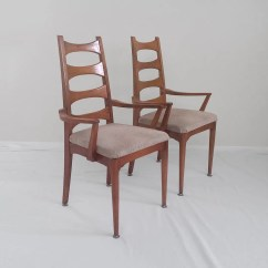 Tall Back Dining Chairs Deck Chair Cushions 4 Mid Century Modern Atomic Cat Eye