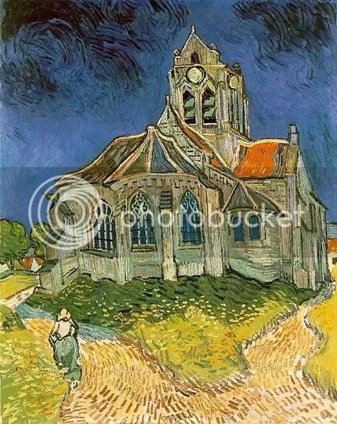 """Van Gogh's """"L'église d'Auvers-sur-Oise"""""""