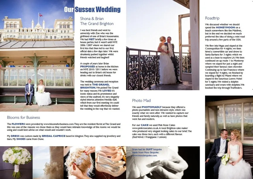 Absolute Brighton Magazine April 2013 - Real Brighton Wedding Photo Madly