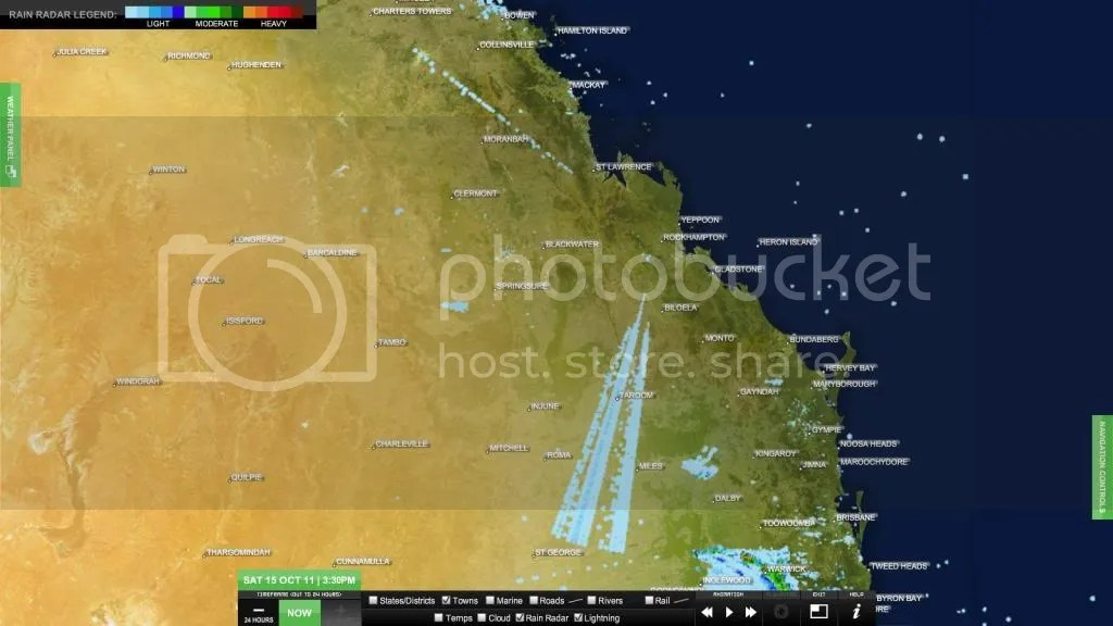 Rockhampton radar anomaly. software glitch for over a week?
