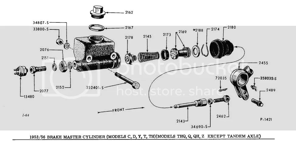 1940 Ford master cylinder diagram
