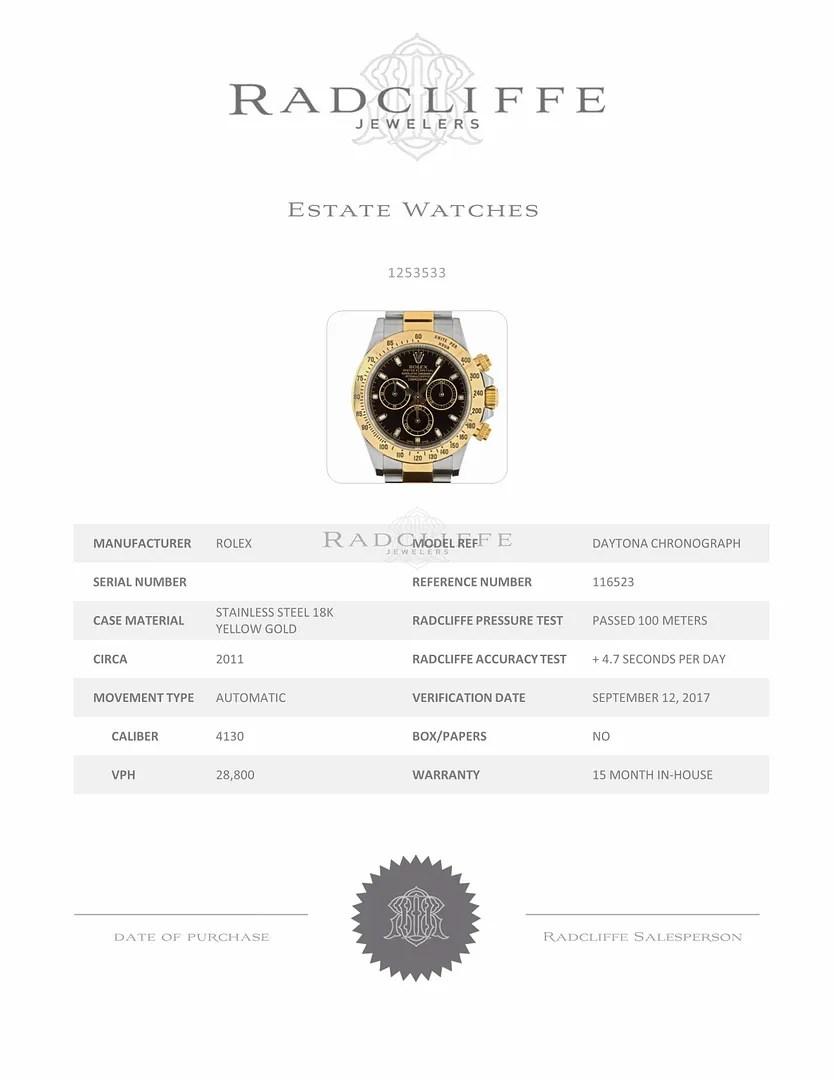 FS- Rolex 116523 Daytona Black