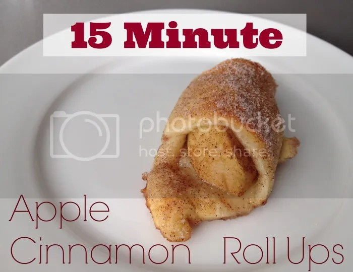 This 15 Minute Baked Apple Cinnamon Roll Ups Recipe is perfect for Fall or Winter!
