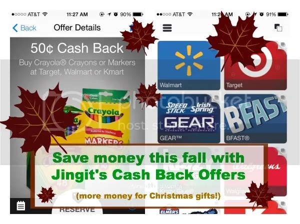 Save money this fall with Jingit's Cash Back Offers