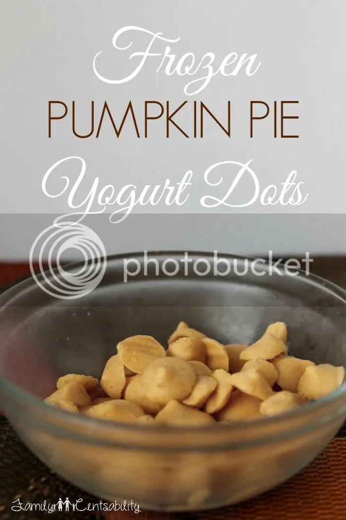 Frozen Pumpkin Pie Yogurt Dots Recipe (kids love them!)