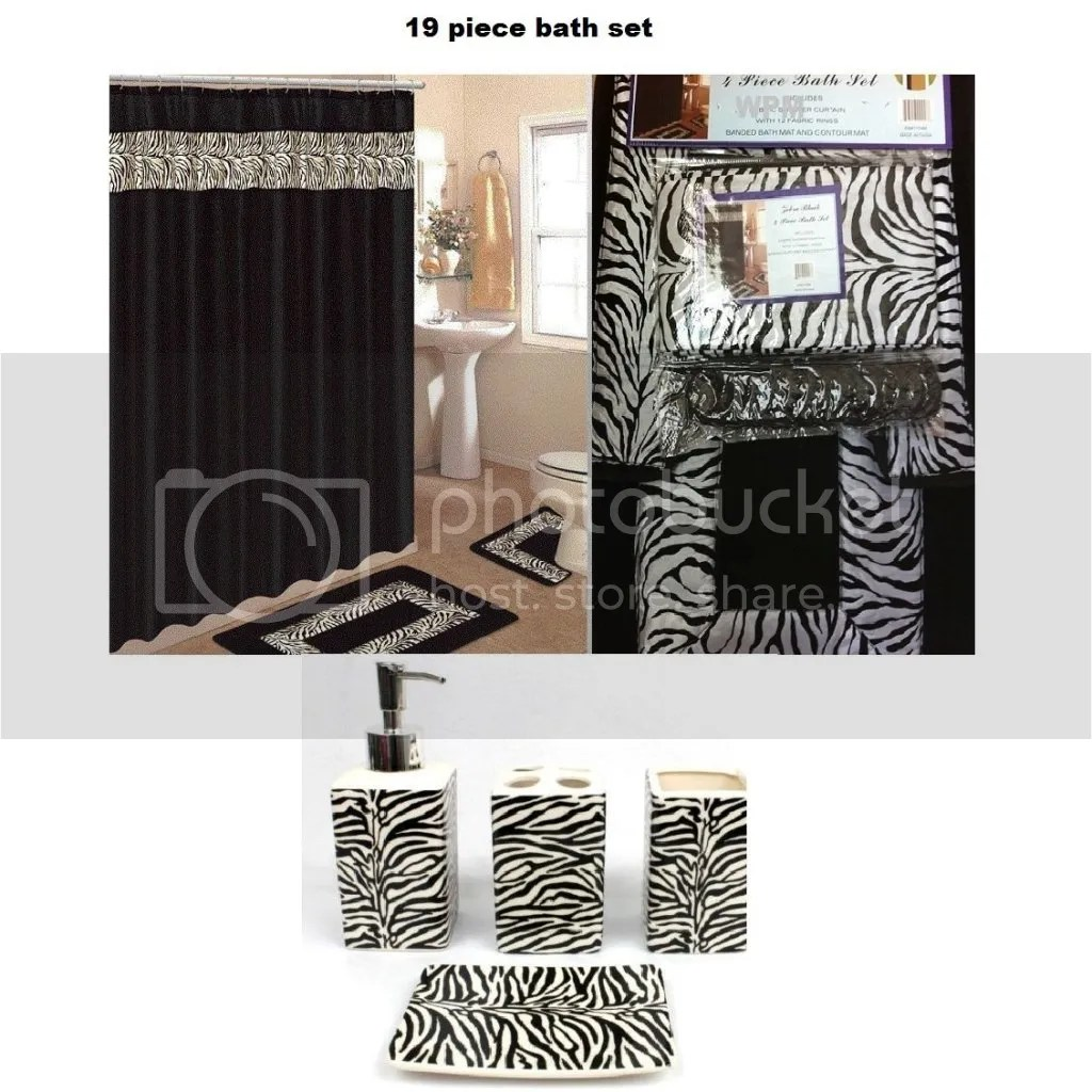 Bathroom shower curtains sets - Zebra Shower Curtain The Shoppers Guide