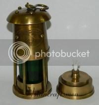 Solid Brass Miner's Oil Lamp, Brass Miner's Lamp - Coal ...