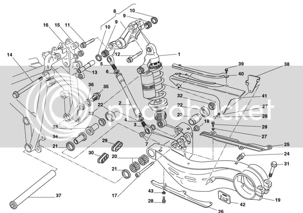 Ducati 748 916 996 998 Underside Chain Runner