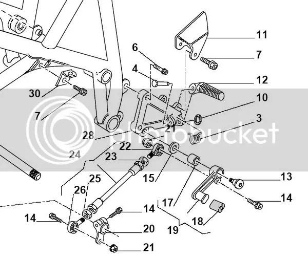 Ducati 748 748R 916 996 Foot Peg Hanger Pivot Bolt Spring