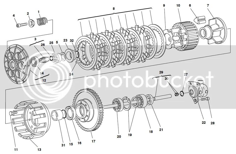 Ducati 748 916 996 998 Clutch Hub Drum 1