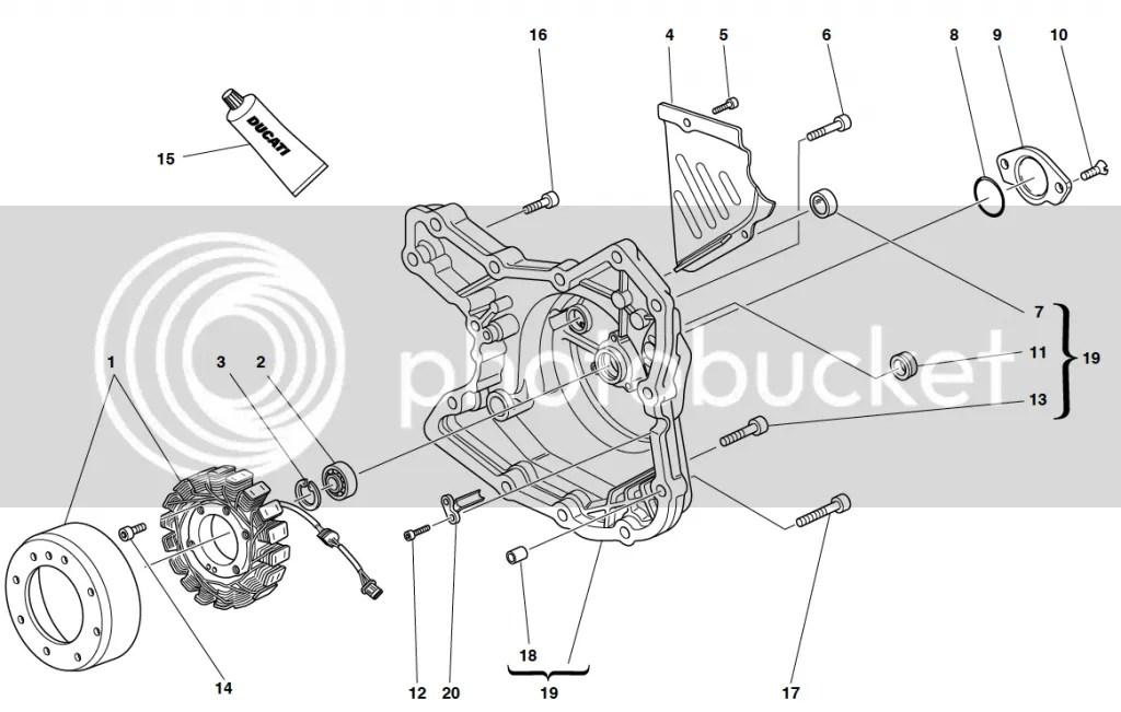 Ducati Monster 600 Alternator Cover Case Casing