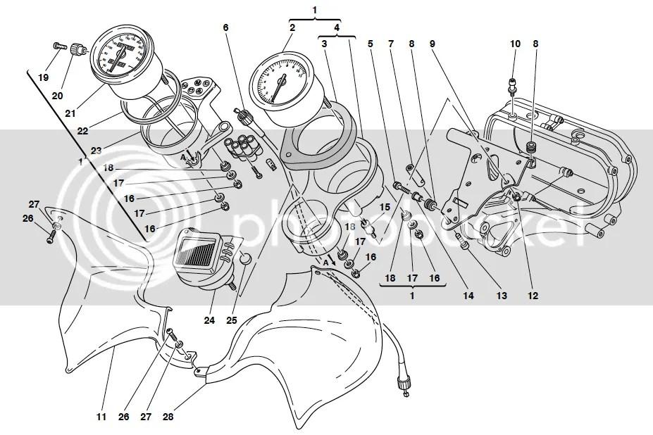Ducati ST2 ST4 RH Inner Instrument Surround Panel
