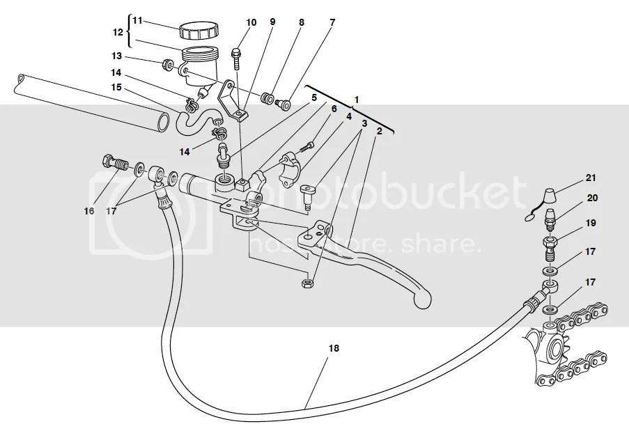 Ducati ST2 ST4 Clutch Reservoir & Bracket Assembly