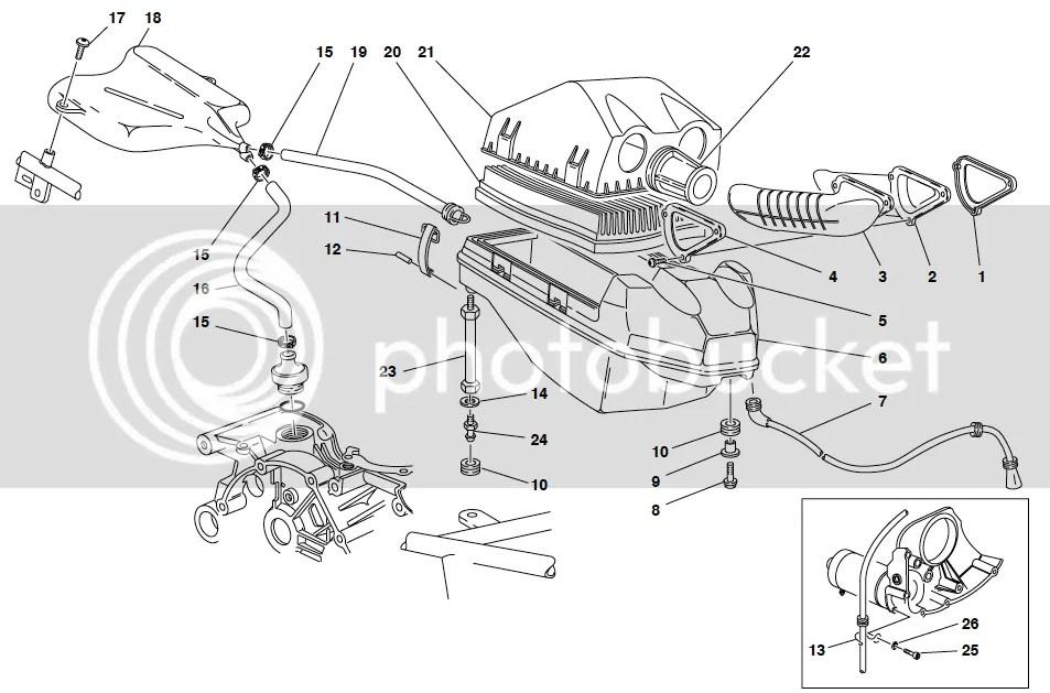 Ducati ST2 ST4 Air Filter