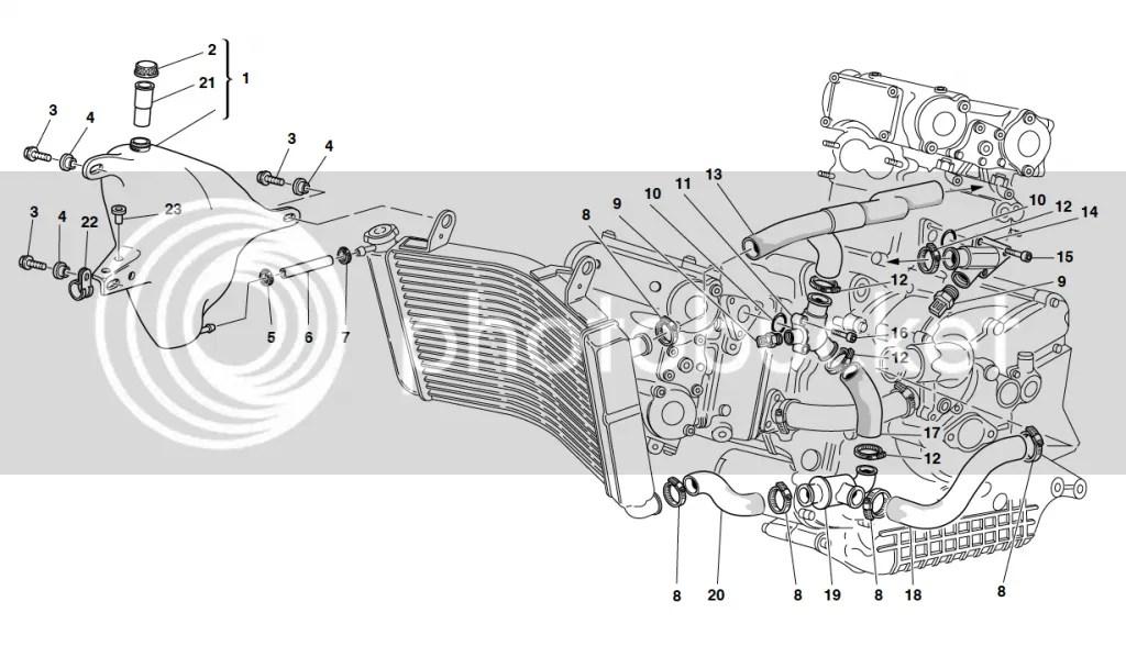 Ducati 748 996 ST2 ST4 ST4S Coolant Temperature Sensor
