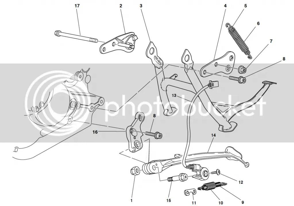 Ducati ST2 ST4 ST4S Side Stand Pivot Pin