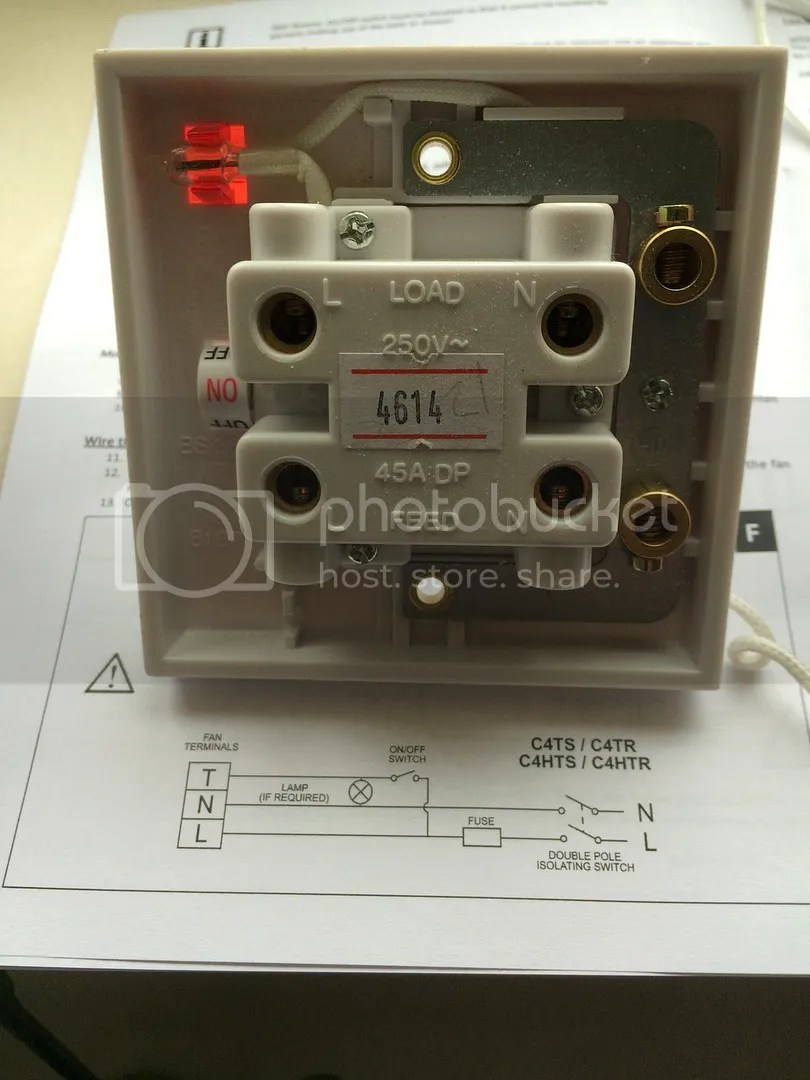 wiring diagram for extractor fan two wire thermostat with timer diynot forums