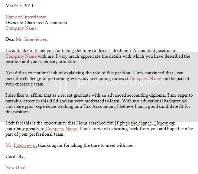 Sample Thank You Letter After Panel Interview Via Email The