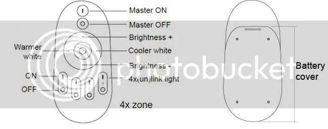 Mi Light iOS Android 2.4G WiFi Control 4W GU10 Warm to