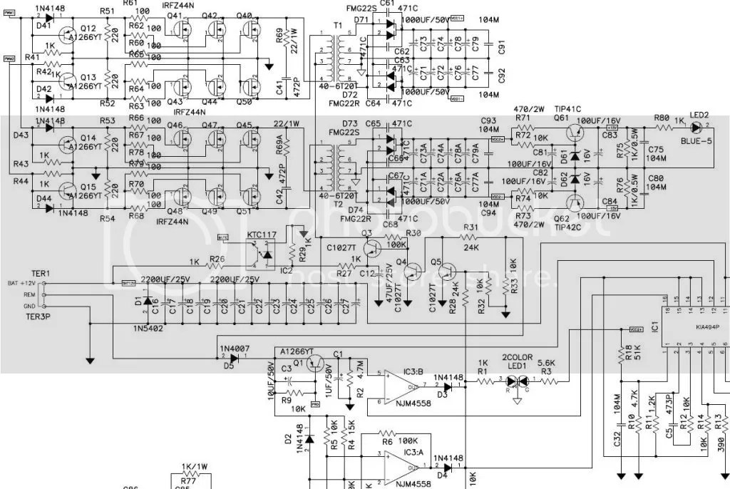 Making car amplifier SMPS with tl494 + DC Protection