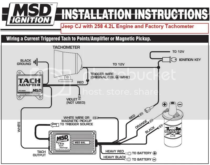 Amc 258 Distributor Wiring Diagram Tach Connection After Msd 6200 Install Jeepforum Com