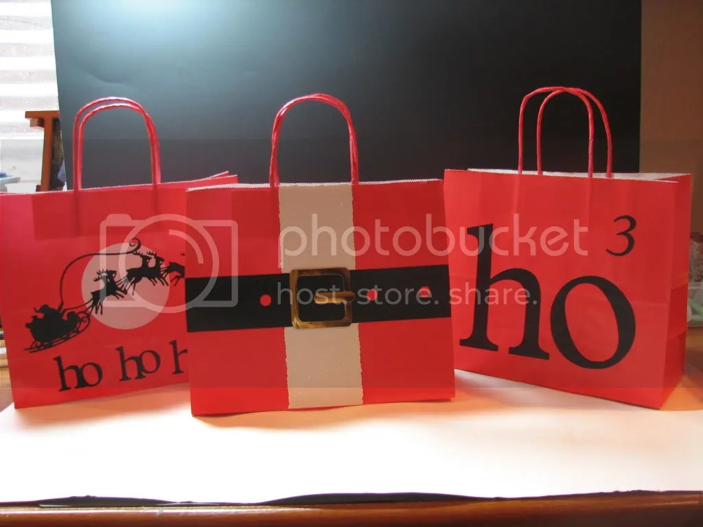 Trio of gift bags Pictures, Images and Photos