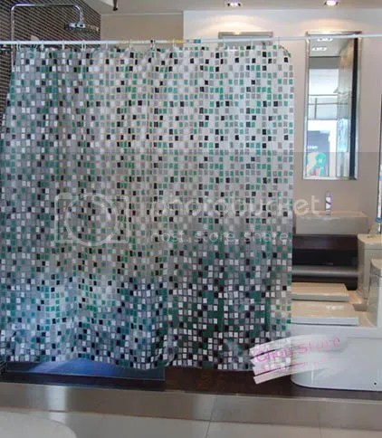 Bathroom Shower Curtain With Transparent Mosaic Pattern E12 EBay