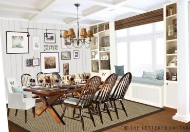 Simple Dining Room Table Decorating Ideas
