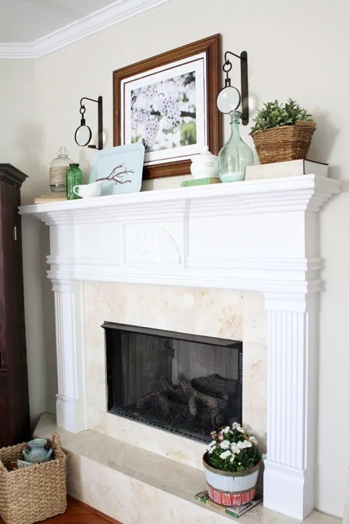how to decorate my living room rustic curtain fabric gorgeous spring mantels {decorate mantel} - home stories a ...