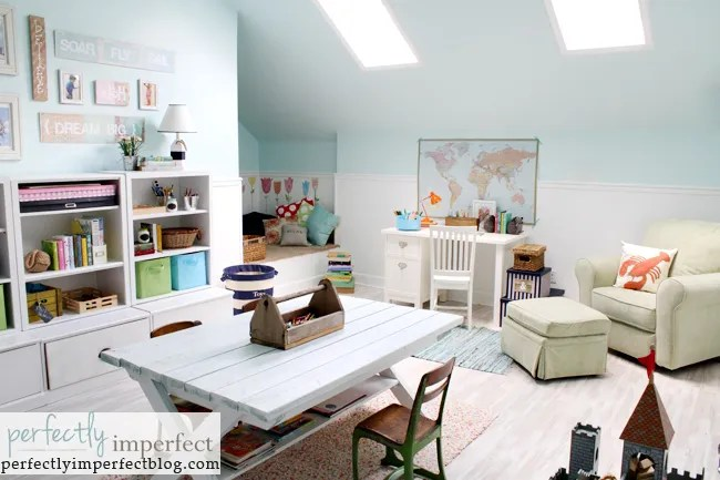 playroom updates with pottery barn kids
